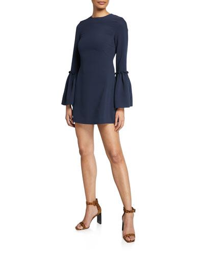 Valentina Bell-Sleeve Mini Dress