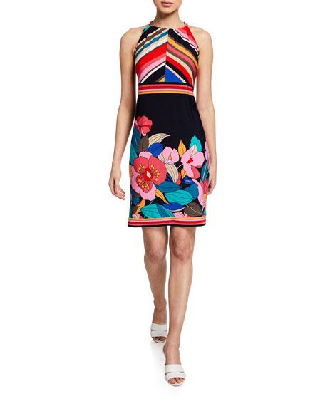 Trina Turk  VACACIONES JET SET FLORAL-PRINT HALTER DRESS
