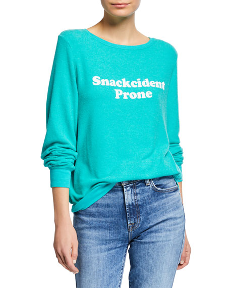 Wildfox SNACKCIDENT PRONE RELAXED CREWNECK SWEATER