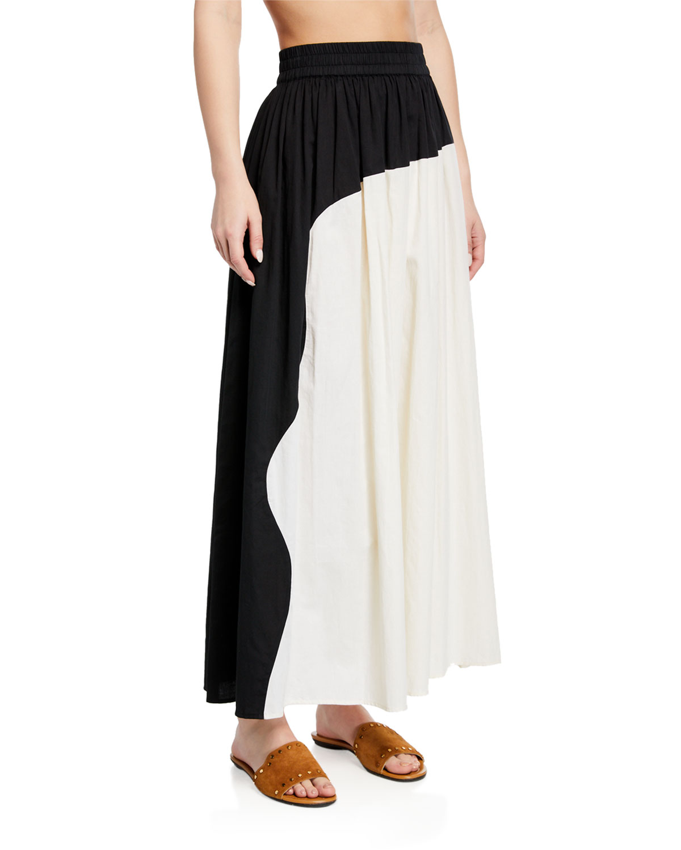 af7af0f7af4a Mara Hoffman Ari Colorblock Organic Cotton Maxi Skirt