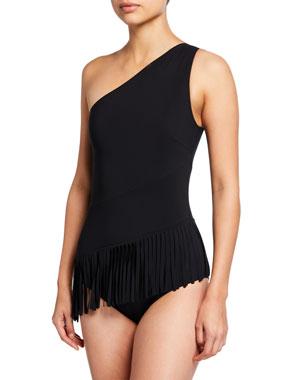 3b458df9c5 Chiara Boni La Petite Robe Sinead Off-the-Shoulder One-Piece Bathing Suit