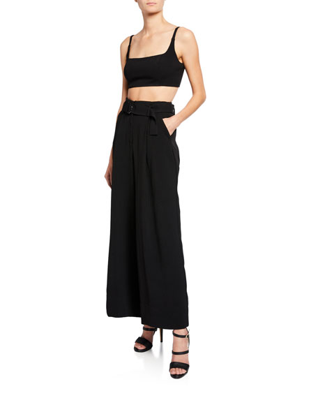 Fame And Partners THE AUGUSTA TWO-PIECE CROP TOP & PANTS SET