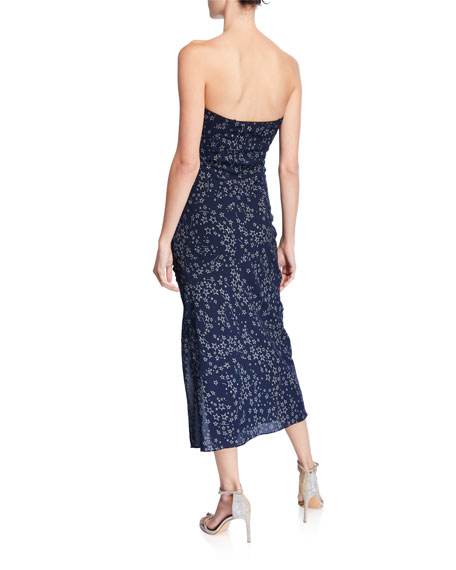 829cebe6a2 Image 2 of 2  Ali Ruched Star-Print Ruffle Strapless Dress