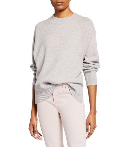 Alyce High-Low Oversized Wool-Blend Sweater