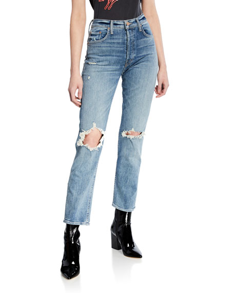Mother Jeans THE TOMCAT ANKLE STRAIGHT-LEG JEANS