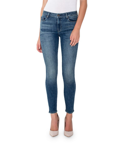 Ava Mid-Rise Ankle Skinny Jeans