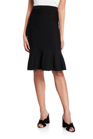 MICHAEL Michael Kors Solid Jersey Flare Skirt