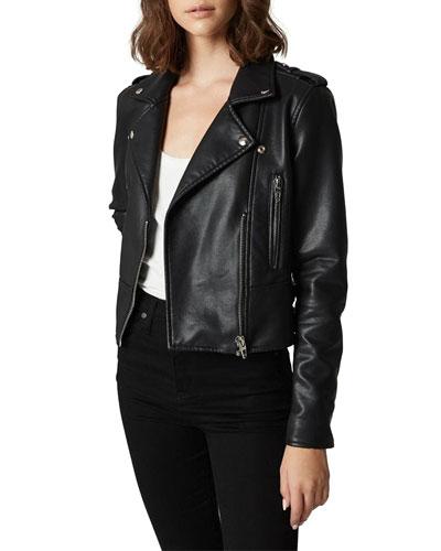 It Takes Two Vegan Leather Moto Jacket