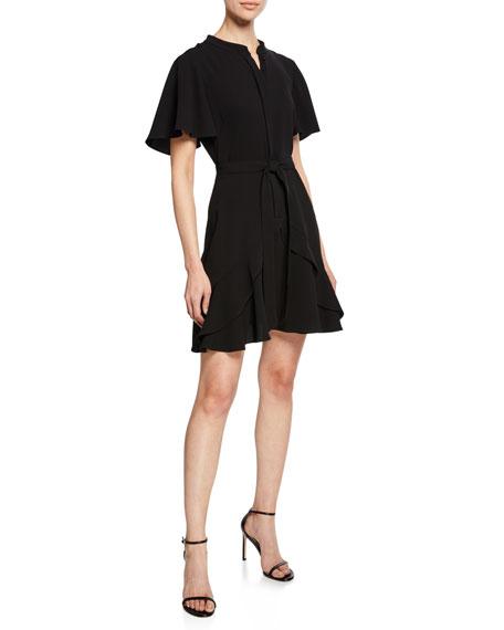 Shoshanna Dresses ABELIA SHORT-SLEEVE BELTED DRESS