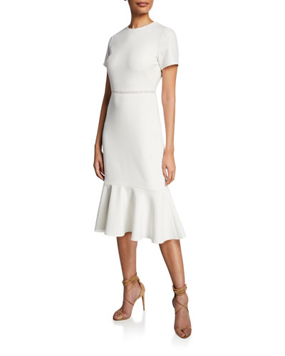 Ravello Short-Sleeve Flounce Dress
