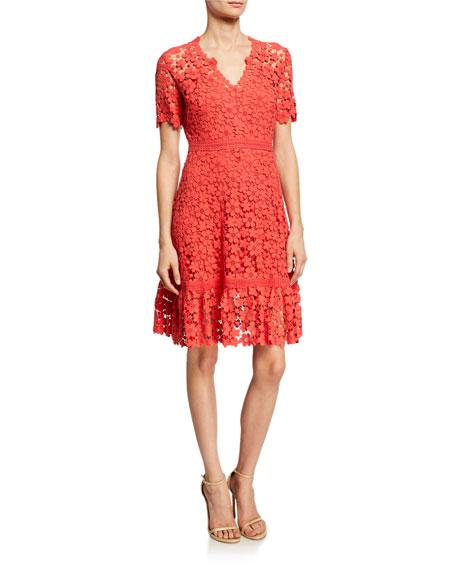 Shoshanna Dresses TOSCANA FLORAL LACE A-LINE DRESS