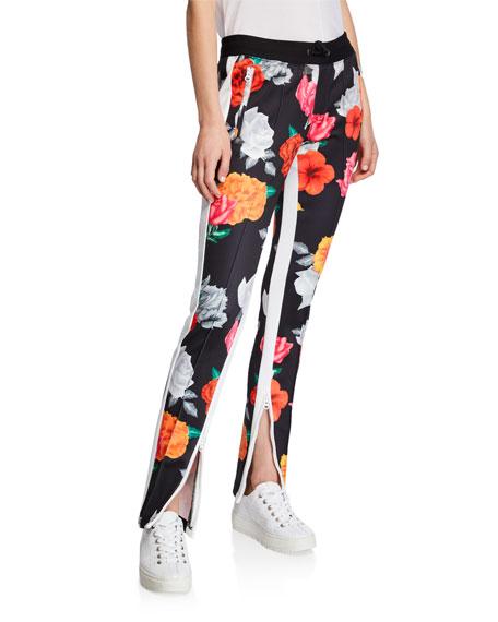 Pam & Gela  Fresh Cut Cigarette Floral Zip Track Pants