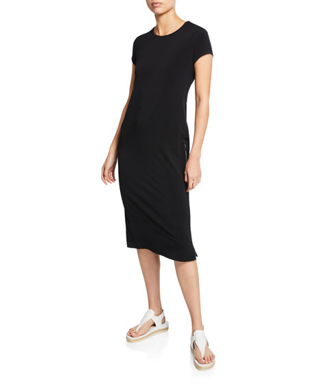 Anatomie Devia Short-Sleeve Jersey Tunic Dress w/ Side