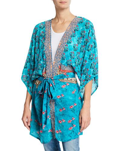 Mona Tie-Front Kimono Jacket