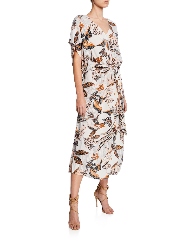 c93ff8a1ff Rachel Pally Rae Printed Crepe Short-Sleeve Shift Dress