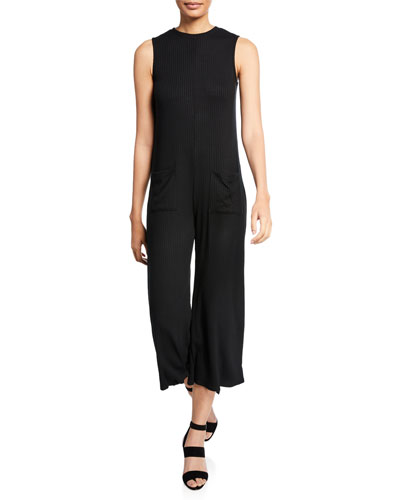 Plus Size Cassius Ribbed Sleeveless Jumpsuit