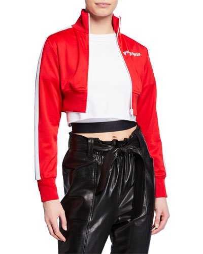 Cropped Logo Track Jacket