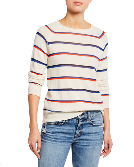 Kule Sweaters THE PENNY STRIPED PULLOVER SWEATER