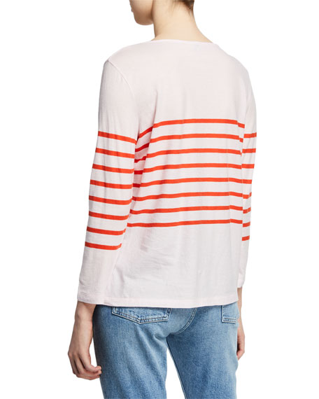 Kule The Malibu Striped Bracelet-Sleeve T-Shirt