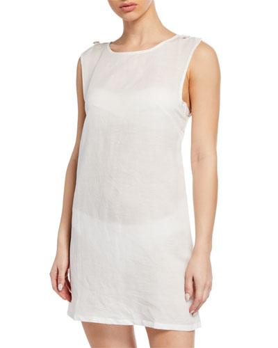 Marina Short Linen Coverup Dress
