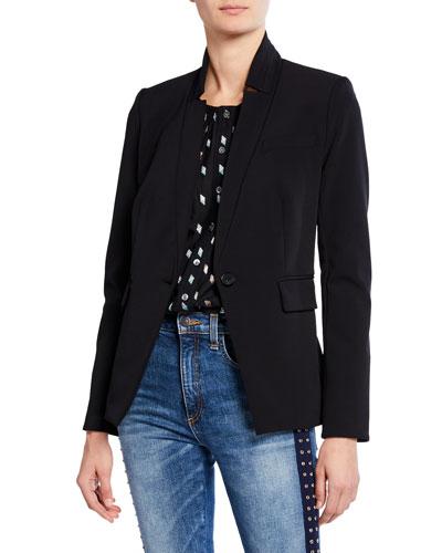 Rae Single-Button Dickey Jacket
