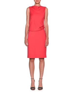 307397b78ad3 Giorgio Armani Milano Jersey Sleeveless Popover Dress