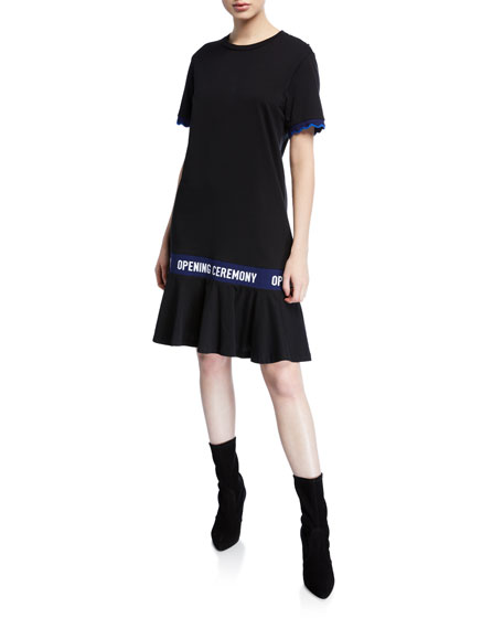 Opening Ceremony SCALLOP OC ELASTIC COTTON T DRESS