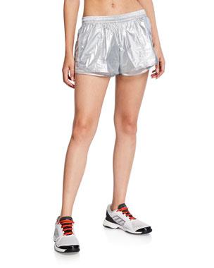 341781bf4a7e adidas by Stella McCartney Metallic Running Shorts