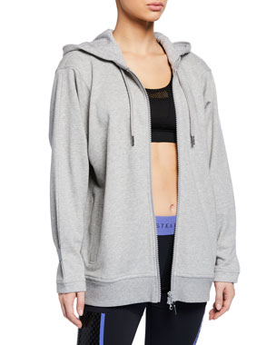 newest collection 540ce 9e07d adidas by Stella McCartney Essential Zip-Front Active Hoodie