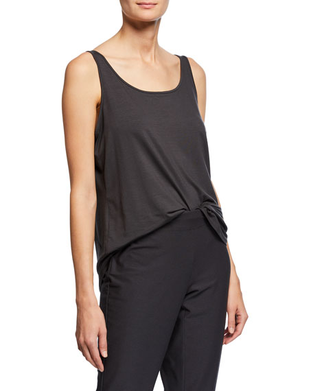 Image 2 of 3: Eileen Fisher Scoop-Neck Long Jersey-Knit Tank