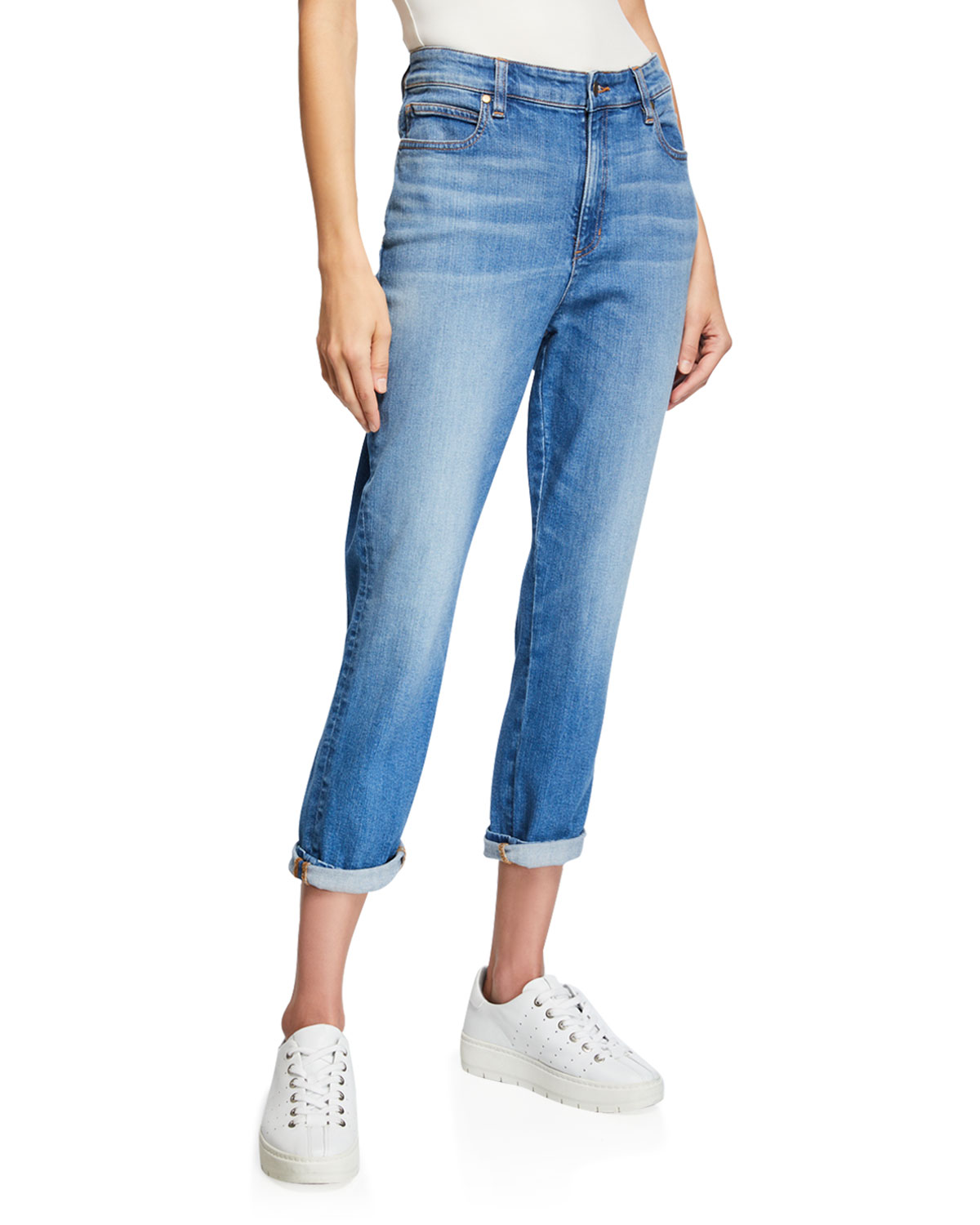 81b68a444f Eileen Fisher Petite Organic Cotton Denim Tapered Ankle Jeans ...