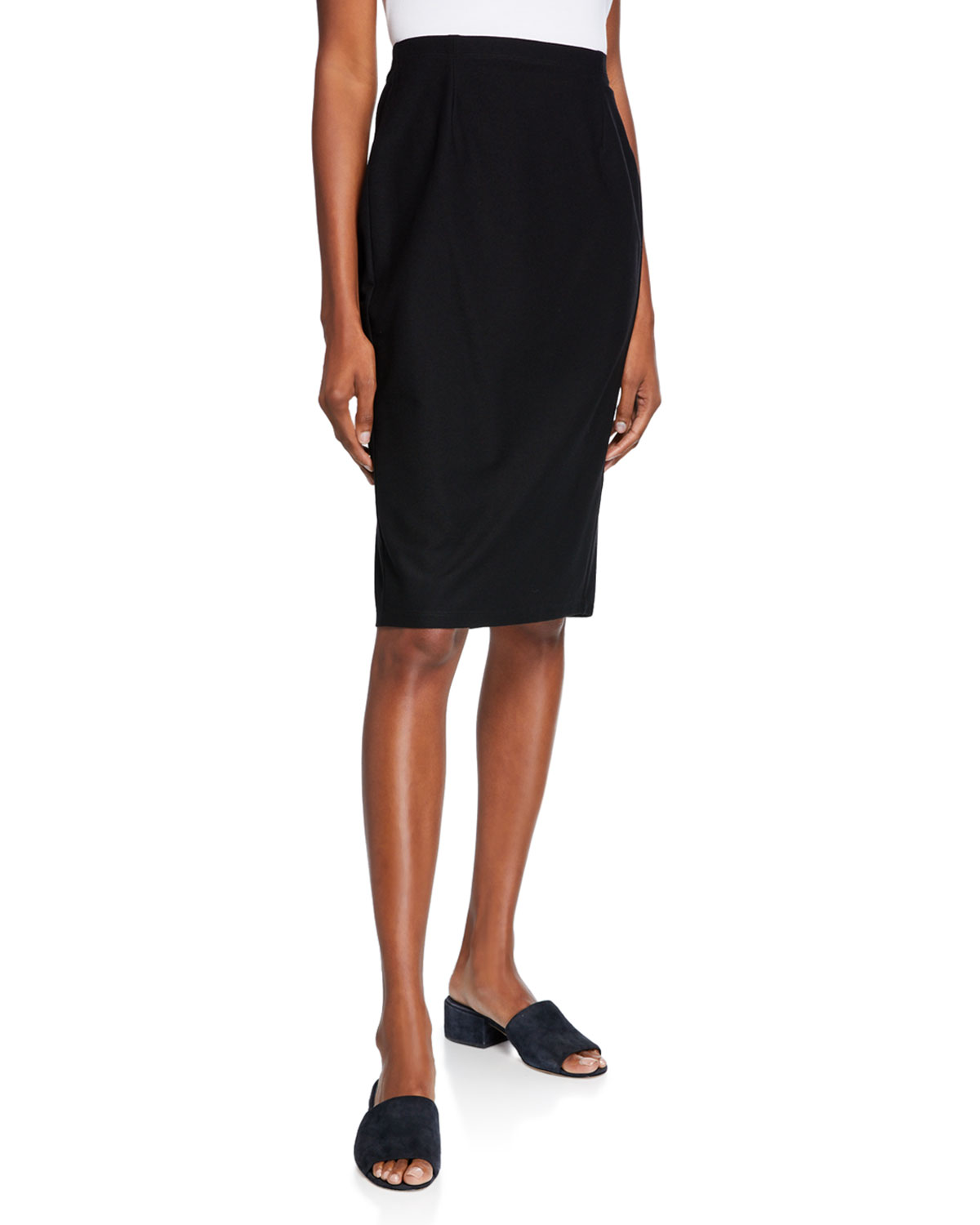 410fae5a1ae Eileen Fisher Washable Stretch Crepe Pencil Skirt