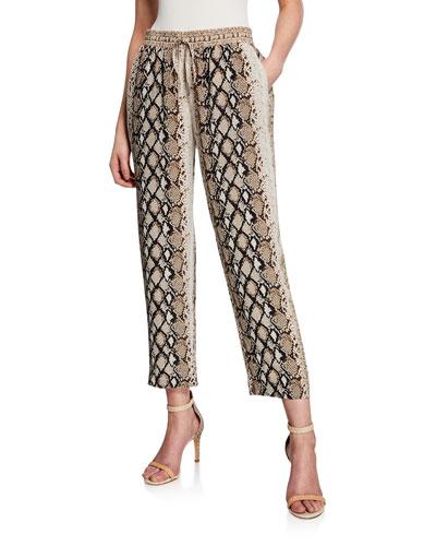Ceylon B Snake-Print Pants