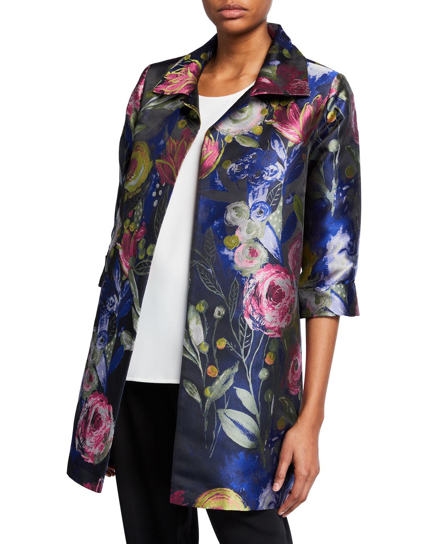 30294e3e5b4 Caroline RosePlus Size Garden Jacquard Party Topper Jacket