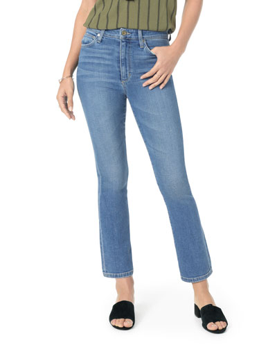 The Callie High-Rise Cropped Flare Jeans