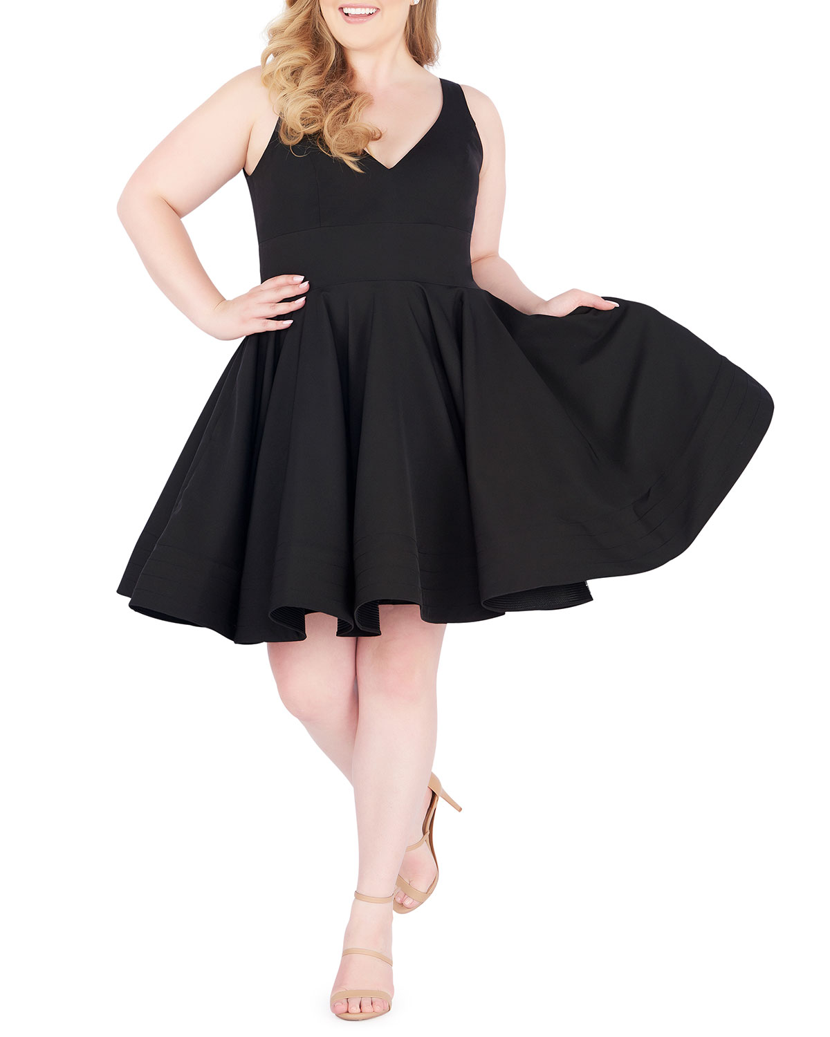 f74848a852 Plus Size Party Dress With Pockets