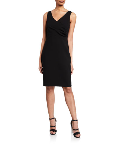 Gabby Sleeveless Crepe Dress
