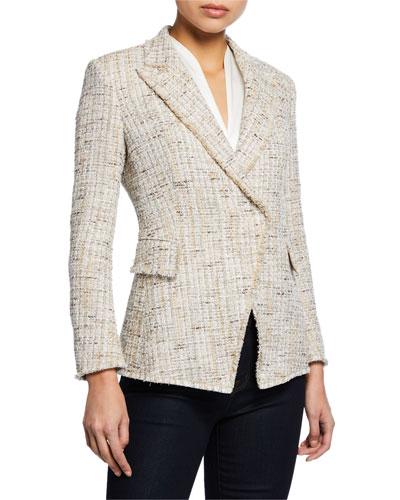 Jezebel Button-Front Tweed Jacket