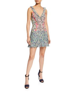 6b42297cdc Saloni Amy Sleeveless Silk Short Dress