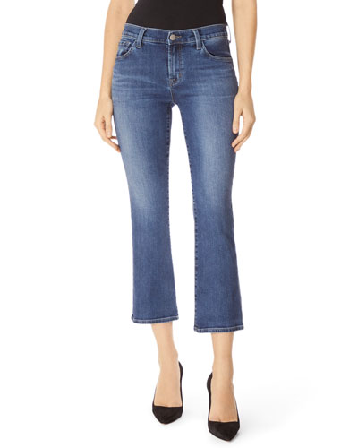 Selena Cropped Boot-Cut Jeans