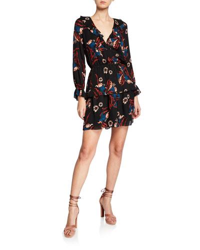 Nour Floral-Print Tiered Ruffle Short Dress