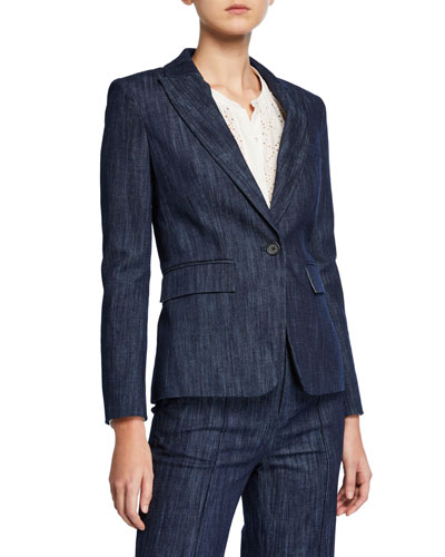 Anilah Single-Button Jacket
