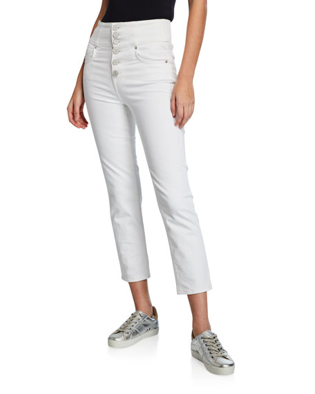 Joie Pants LAURELLE HIGH-RISE SKINNY BUTTON-FLY PANTS