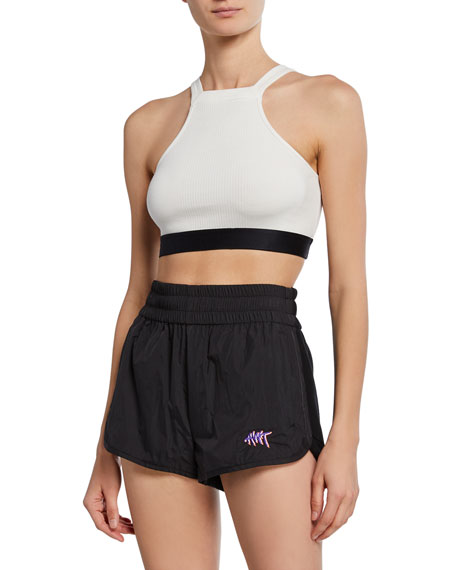 T By Alexander Wang Tops RIBBED COMPACT JERSEY BRA TOP