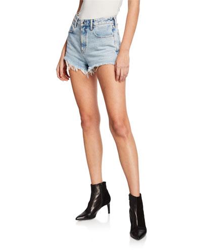 Bite Back-Zip Cutoff Denim Shorts