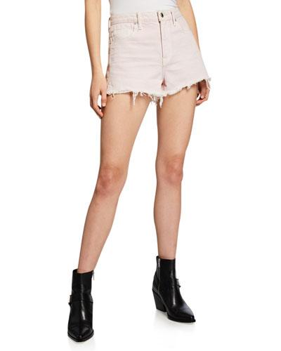 Bite High-Waist Cutoff Denim Shorts