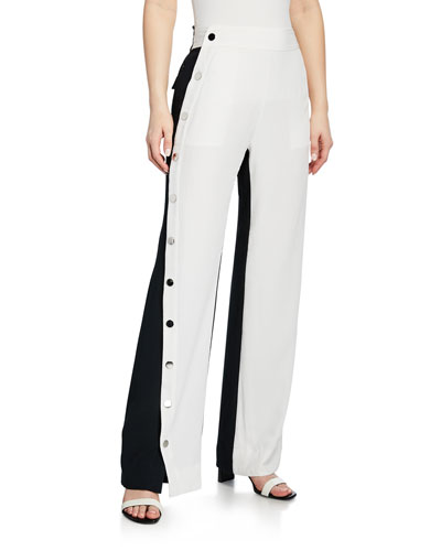 Colorblock Snap Side Track Pants