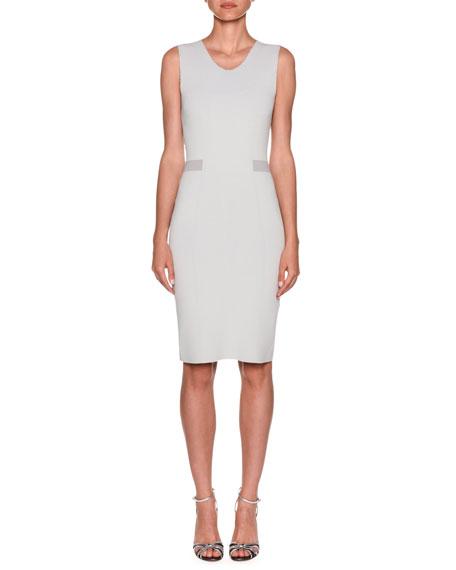 Giorgio Armani Dresses STRIPE-WAIST CREPE JERSEY SHEATH DRESS