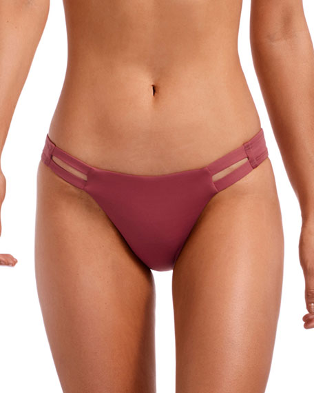 Vitamin A NEUTRA CHEEKY HIPSTER BIKINI BOTTOM, HAVANA ROSE