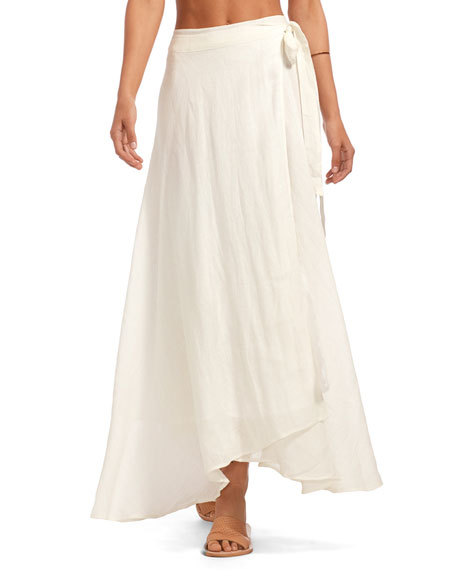 Vitamin A POSITANO GAUZE COVERUP SKIRT